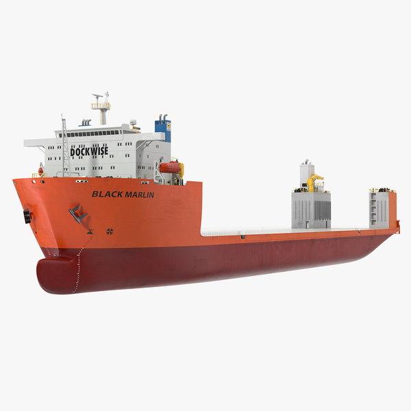 3D model black marlin heavy load