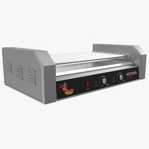 3D hotdog roller grill