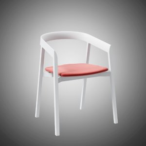 3D model mornington dining chair aluminium