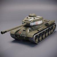 3D soviet ww2 tank is-2 model