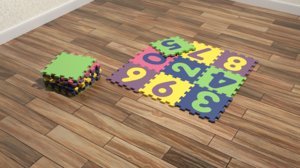 3D model foam floor mat