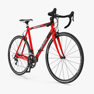 3D model road bicycle rigged
