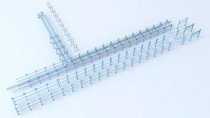 pipe gantry 3D model