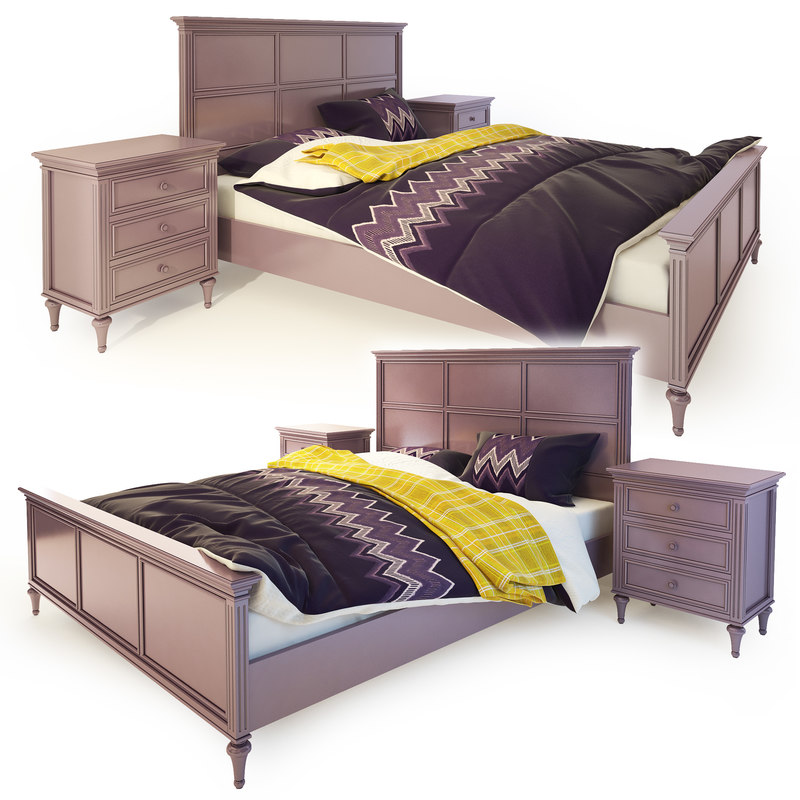 3D bed nightstand