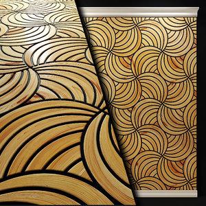 wooden panel model