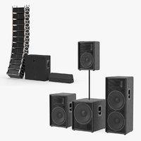 concert speakers 3D model
