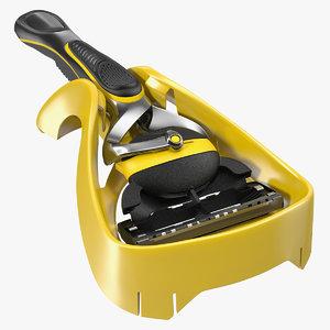 3D shaving razor stand