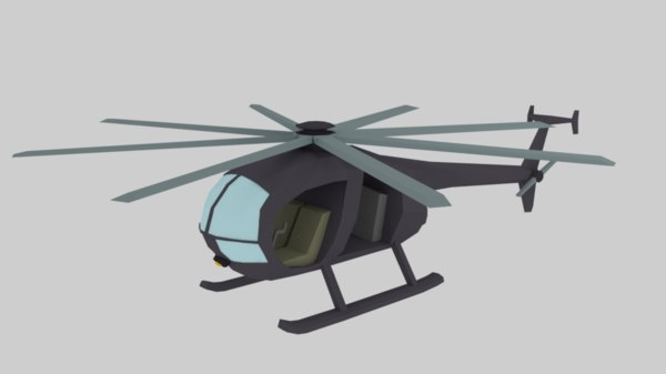 helicopter copter 3D model
