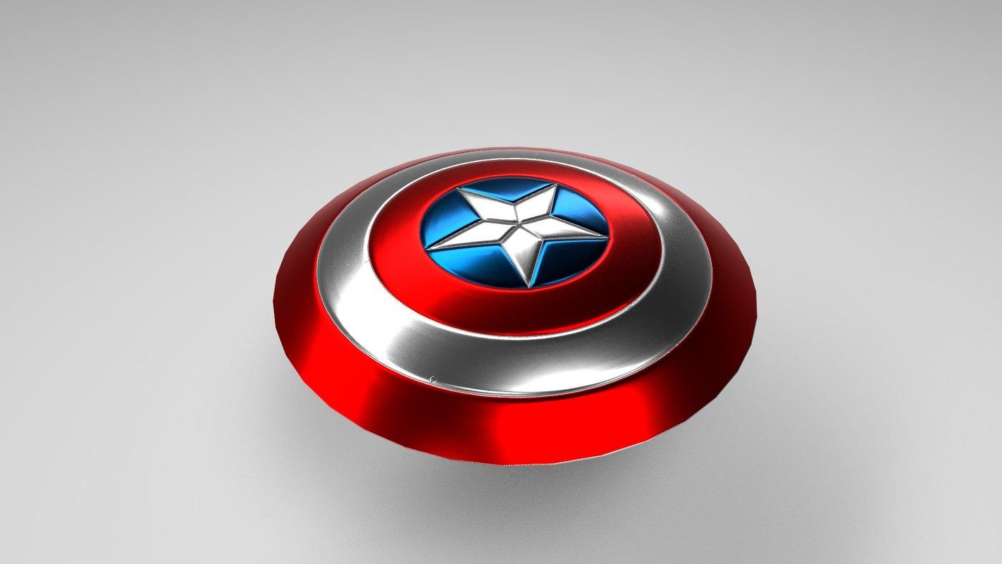 3D shield captain america