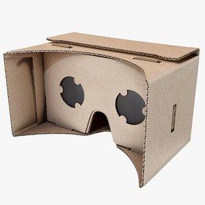 3D google cardboard vr model