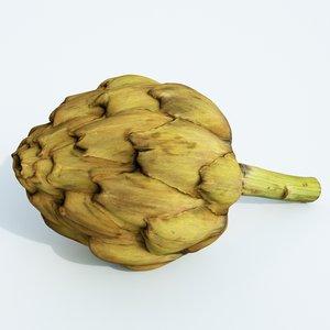 3D artichoke vegetable food model