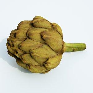 3D artichoke vegetable