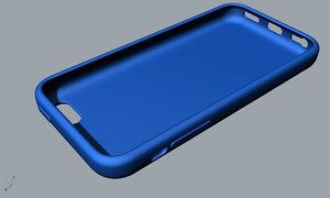 apple 5c blue case 3D model