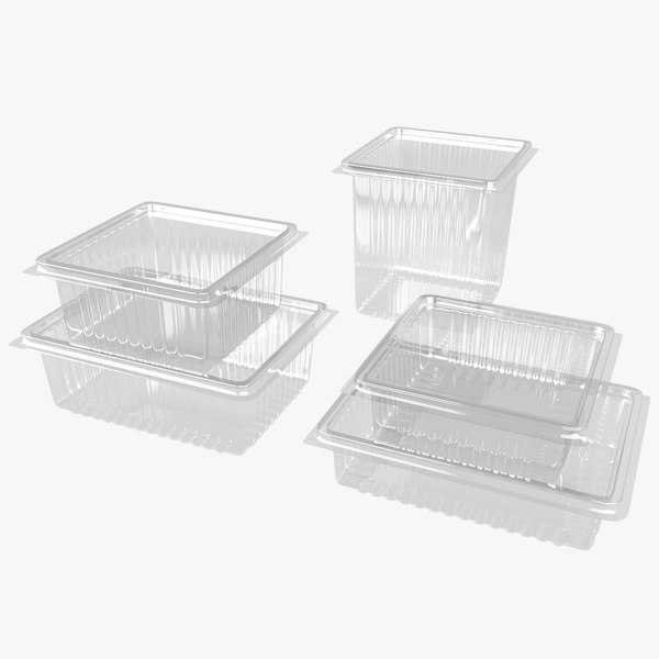 plastic containers 3D model