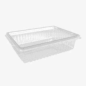 plastic container 2 3D