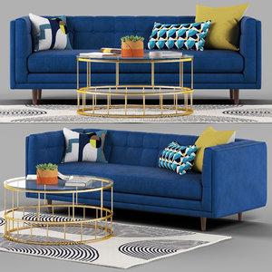 3D bradford sofa set table