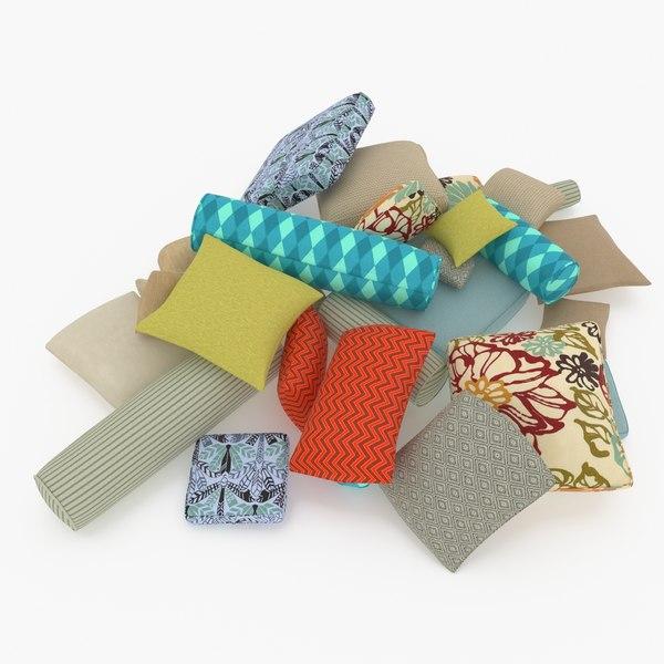 3D pillows set model
