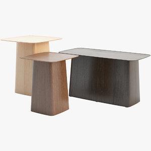 wooden vitra table 3D model