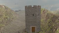 watch tower medieval 3D