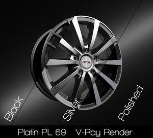 3D platin rim model