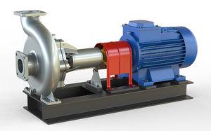 3D pump centrifugal nk2