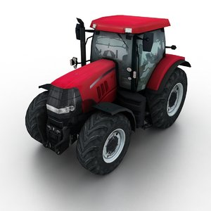 red tractor 3D