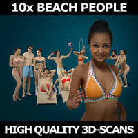 3D scanned people 10x model