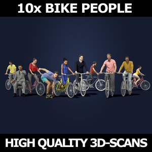 3D model scanned people casual 10x