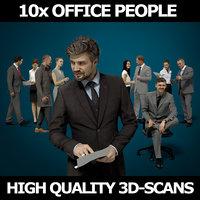 scanned people 10x 3D model