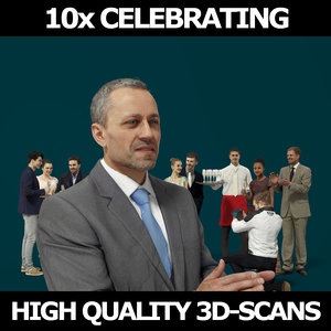 3D scanned people casual 10x model