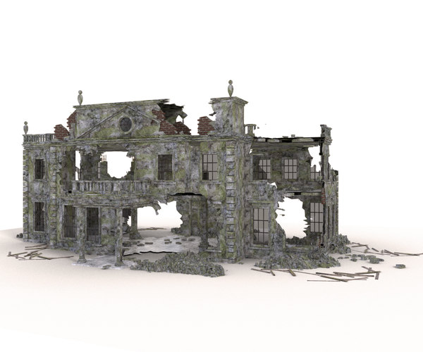 3D ruined building architectural