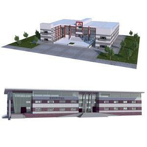 3D building hospital