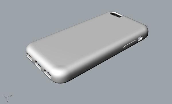 3D apple 5c case printing model
