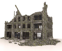 OLD RUINED BUILDING APOCALYPSE WAR