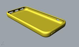 apple 5c yellow case 3D model