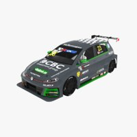 3D volkswagen golf gti tcr model