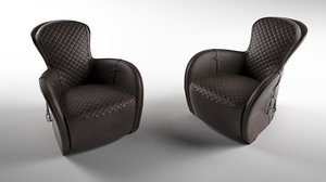 3D saddle easy chair