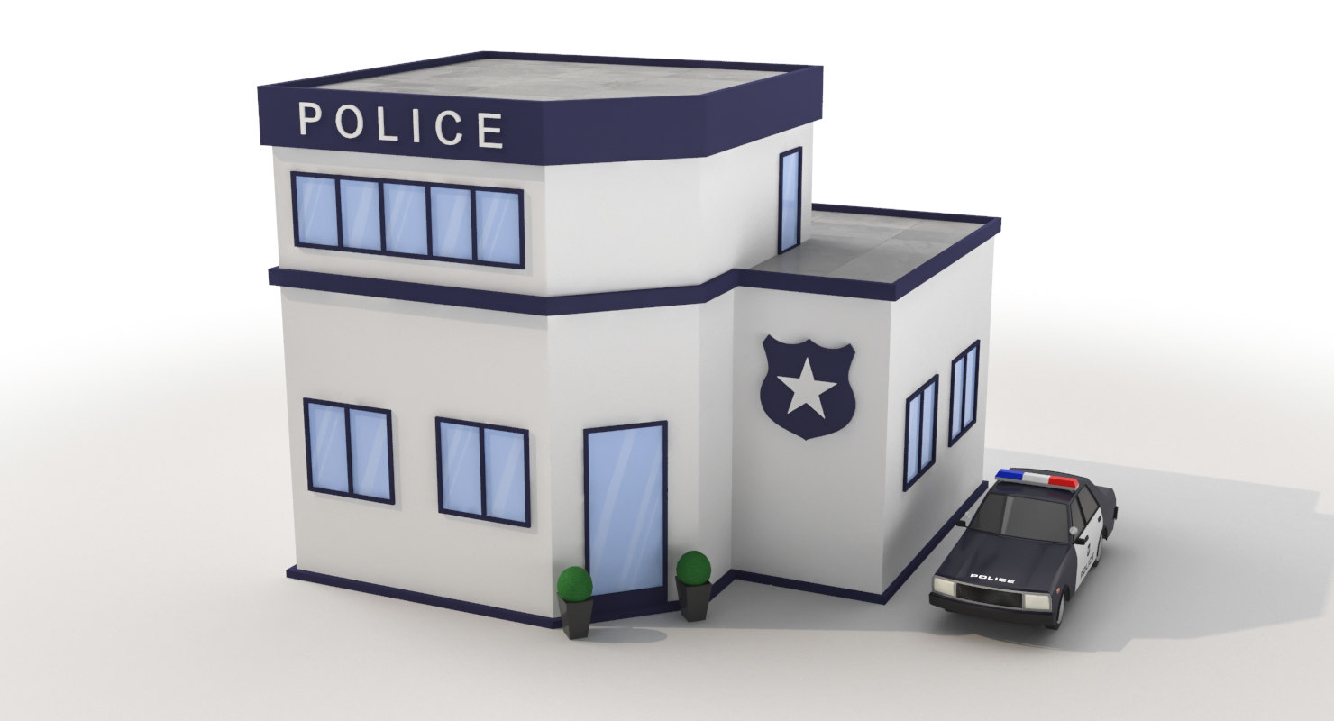 3D model cartoon police station car games