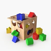 3D model wooden educational toy