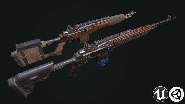 3D model tactical rifle m-14