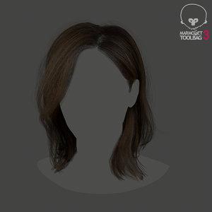 3D model realtime hair