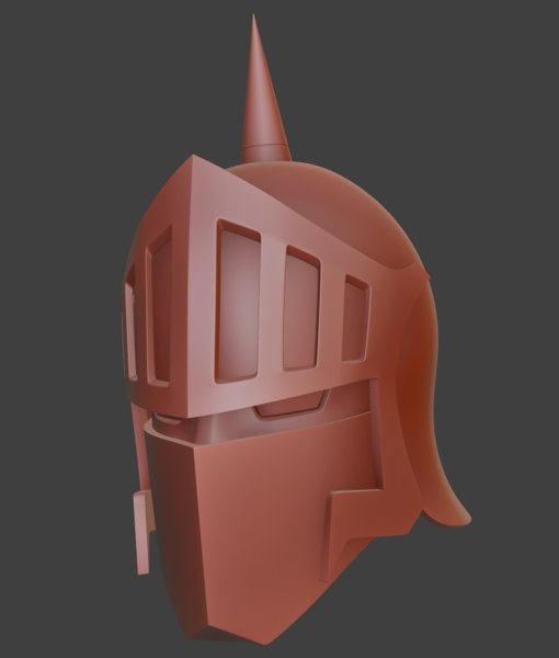 3D model helmet robin mask
