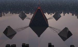 pyramid alien city model