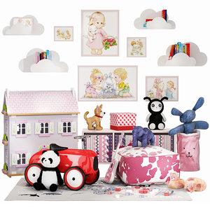 3D children set 10 model