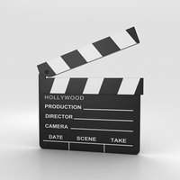 clapperboard board clap model