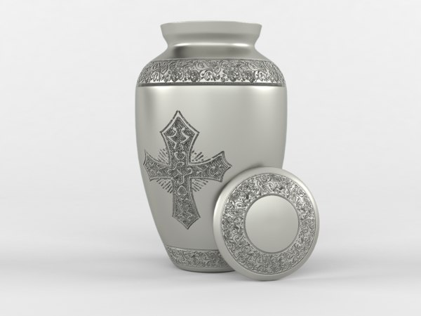 3D decorative urn model