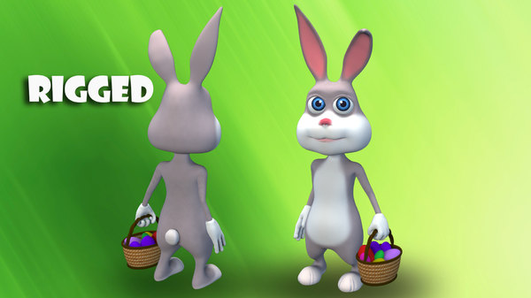 bunny cartoon 3D model