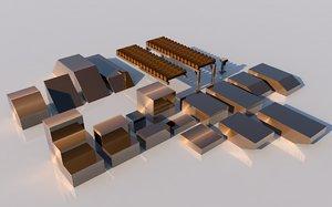 pack platforms 3D model