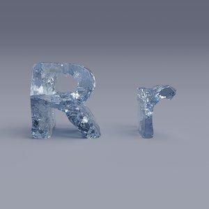 3D letter r model