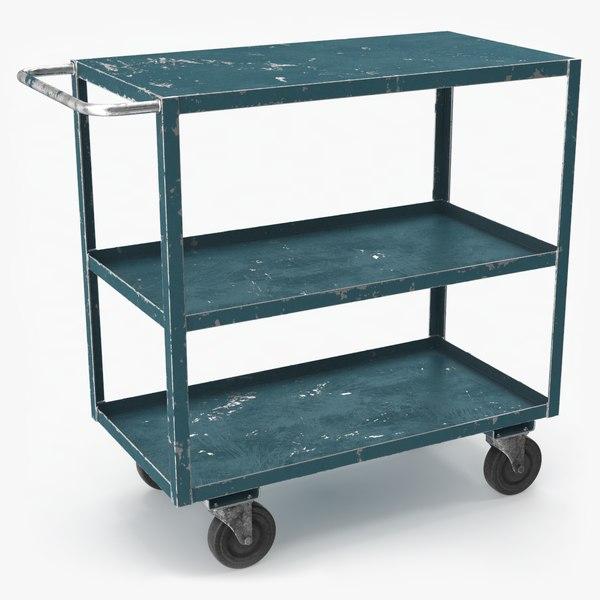 old reinforced service cart 3D model